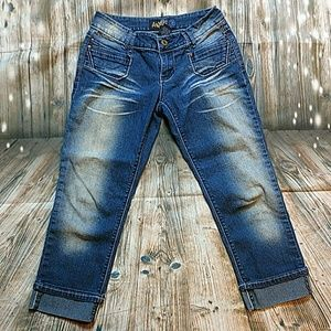Angels Blue Jean Capris Size 3